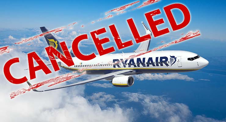 ryanair cancelled