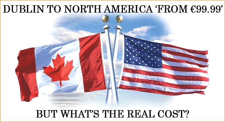 low cost flights dublin north america