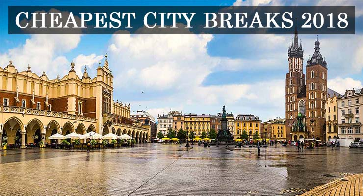 cheapest city breaks 2018