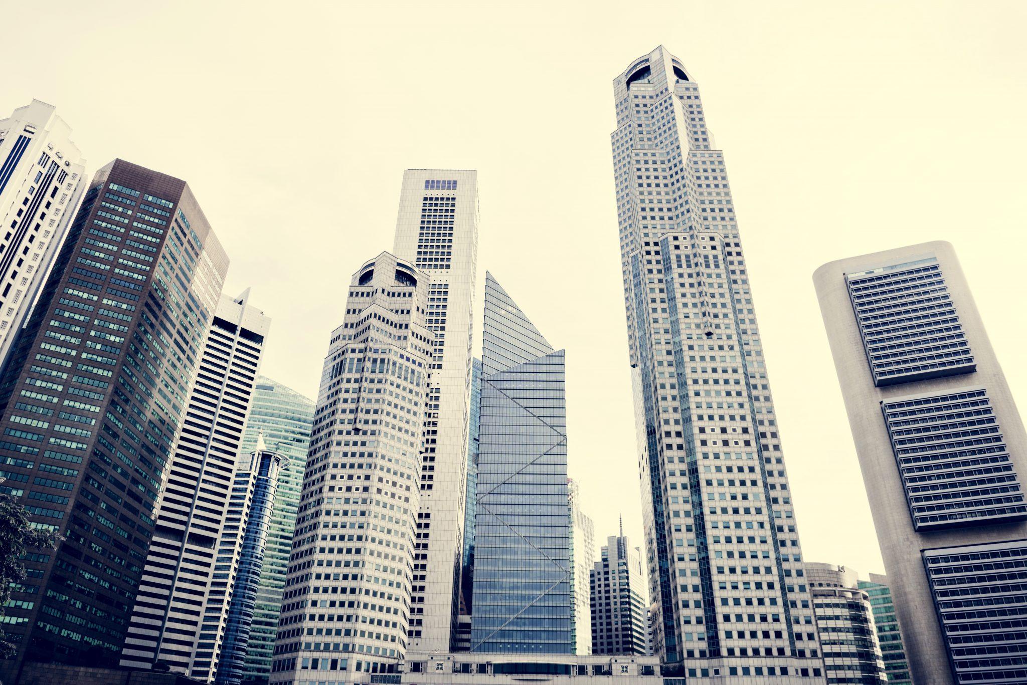 singapore cityscape P4C67LJ